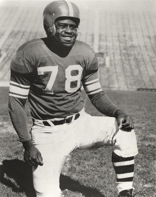 Football player Don Coleman, circa 1952