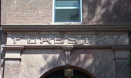 Forestry Building Front Sign, undated