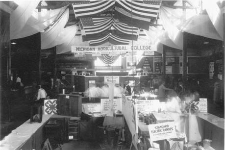 MAC exhibit at the Michigan State Fair, 1921