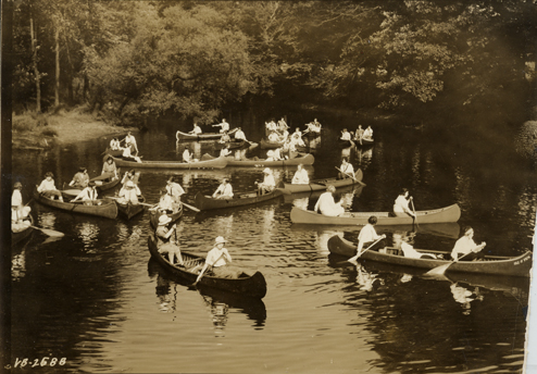 Canoeing the Red Cedar River, undated