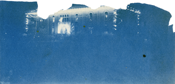 Abbot Hall at night, date unknown