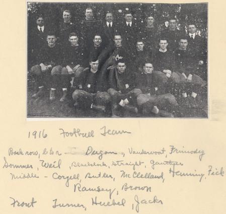 MAC Football team, 1916