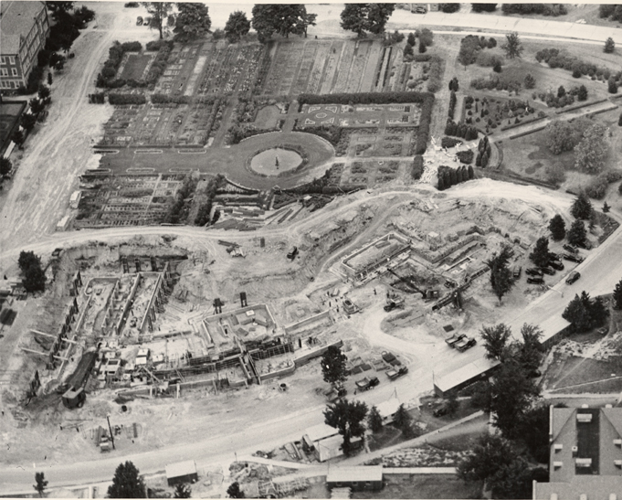 Construction of the Natural Science building, date unknown