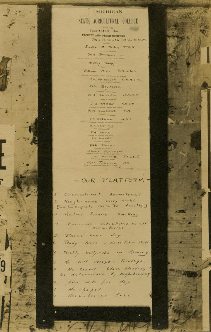 A poster prank, 1912