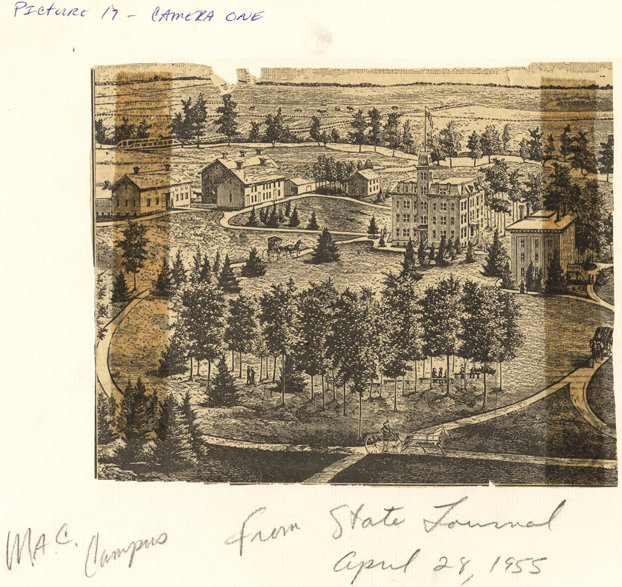A sketch of the M.A.C. campus, 1955