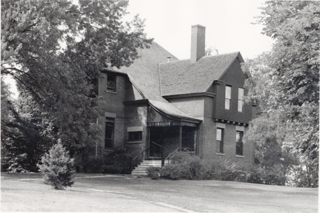 English building on Faculty Row, date unknown