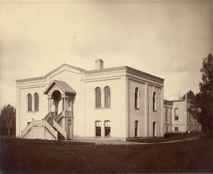 Front view of Chemical Laboratory, 1896