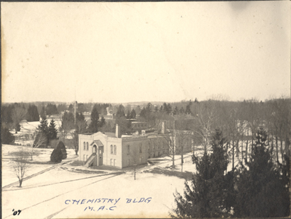 An aerial view of the Chemistry Laboratory, 1907