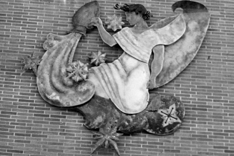 Artwork on the side of Brody Complex, date unknown