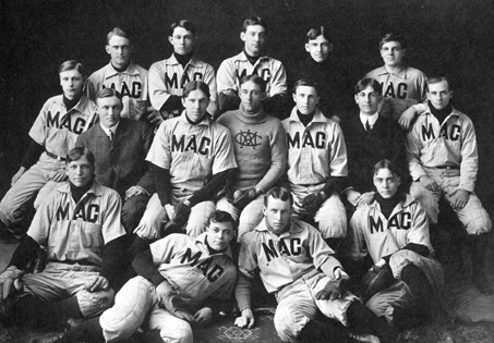 MAC baseball team and managers, 1904