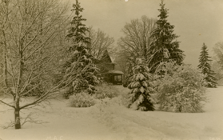 Campus in winter, date unknown