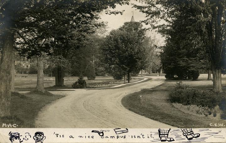 A campus road, 1907