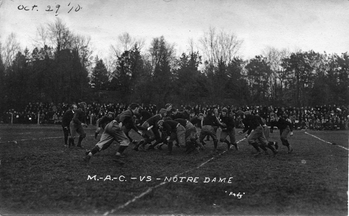M.A.C. vs. Notre Dame football game, 1910
