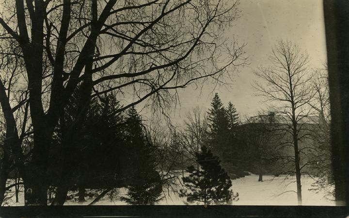 Campus in winter, 1914