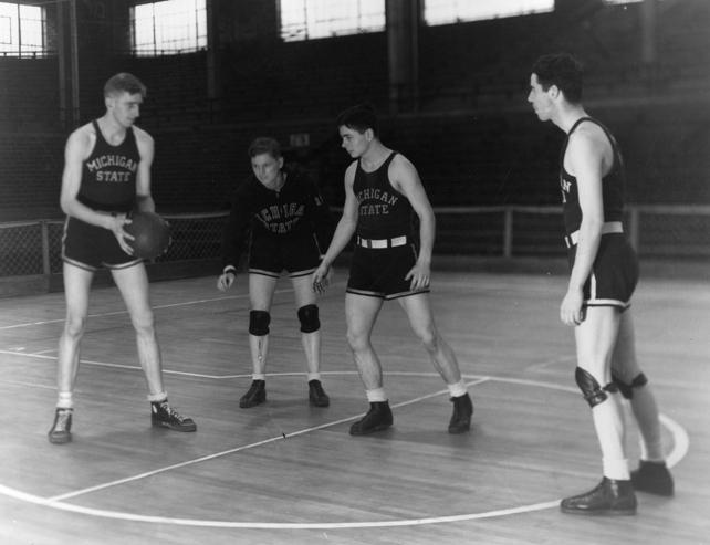 Basketball practice, 1934