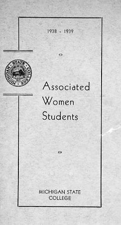 Associated Women Students Handbook, 1930-1939