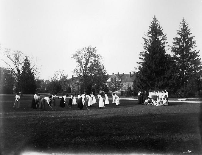 Field hockey practice, date unknown