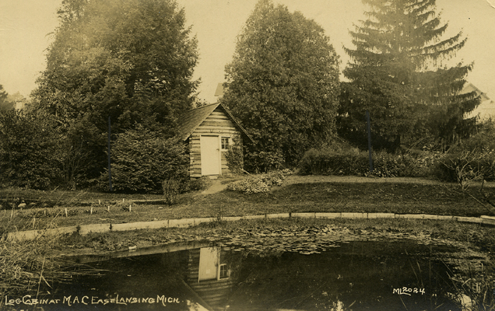 Log Cabin in the Beal Botanical Garden, date unknown