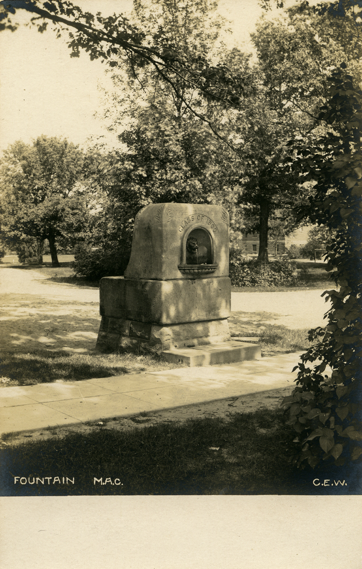 Class of 1900 Fountain, date unknown