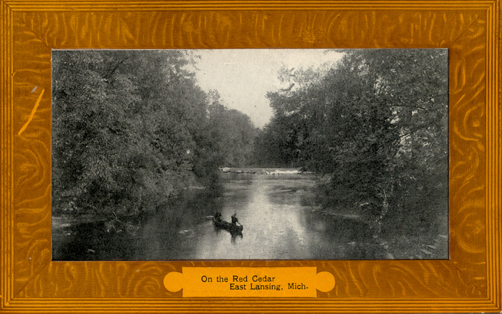 A Canoe on the Red Cedar River, date unknown