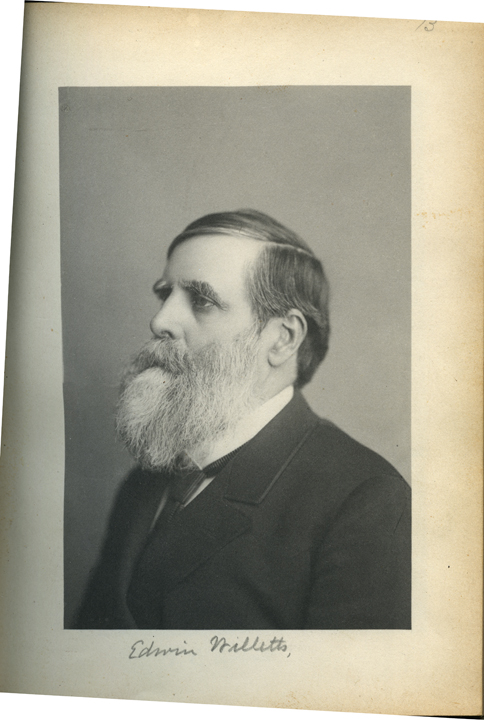 M.A.C. President Edwin Willits, 1886