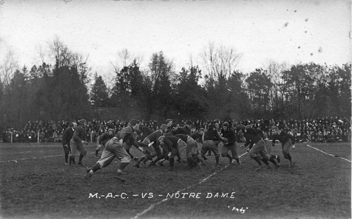 M.A.C. vs. Notre Dame football game, circa 1910-1919