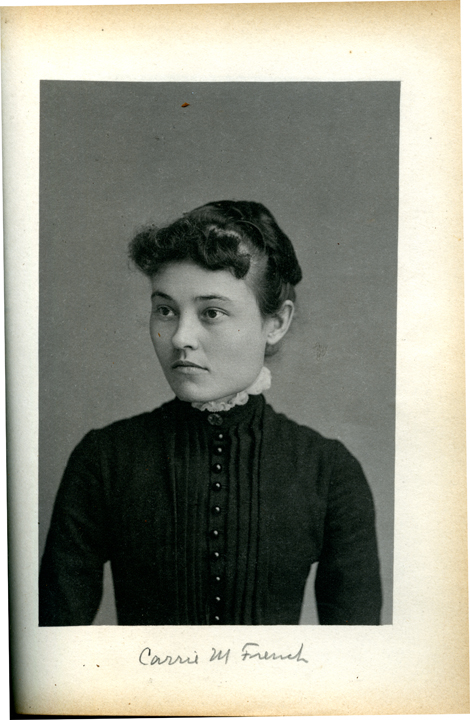 Carrie M. French, 1886