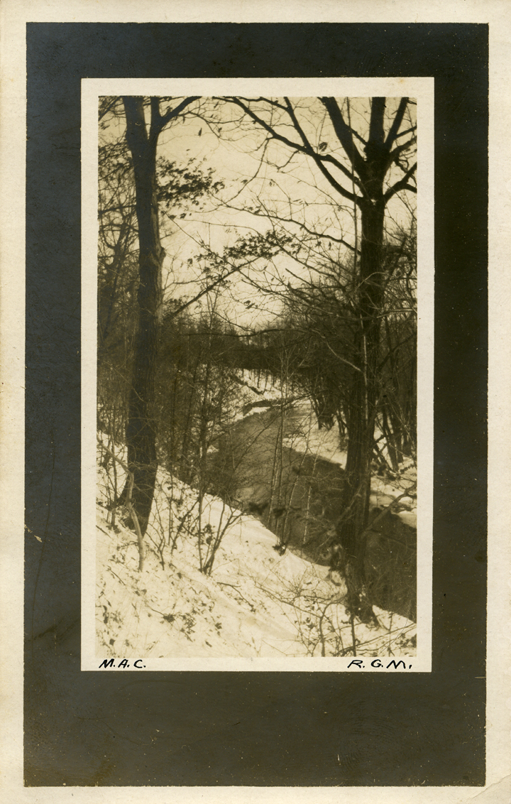 Red Cedar River during winter, date unknown