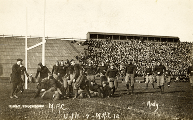 First Touchdown in M.A.C. - University of Michigan football game, 1913