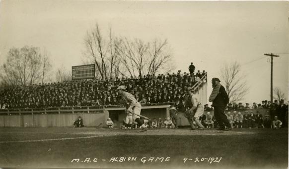 McMillan leads off the baseball season, 1921