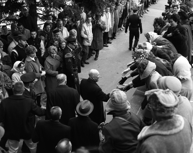 Dwight Eisenhower at MSU, 1961