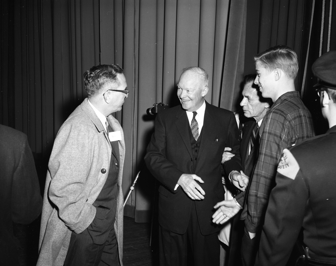 Dwight Eisenhower with Students, 1961