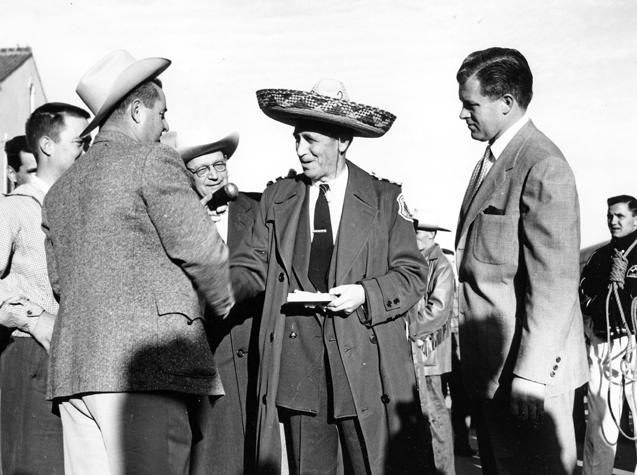 Leonard Falcone in Tuscon, Az., 1956