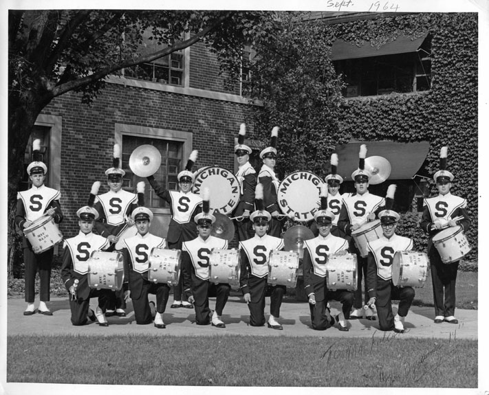 MSU Marching Band Drum Section, 1964