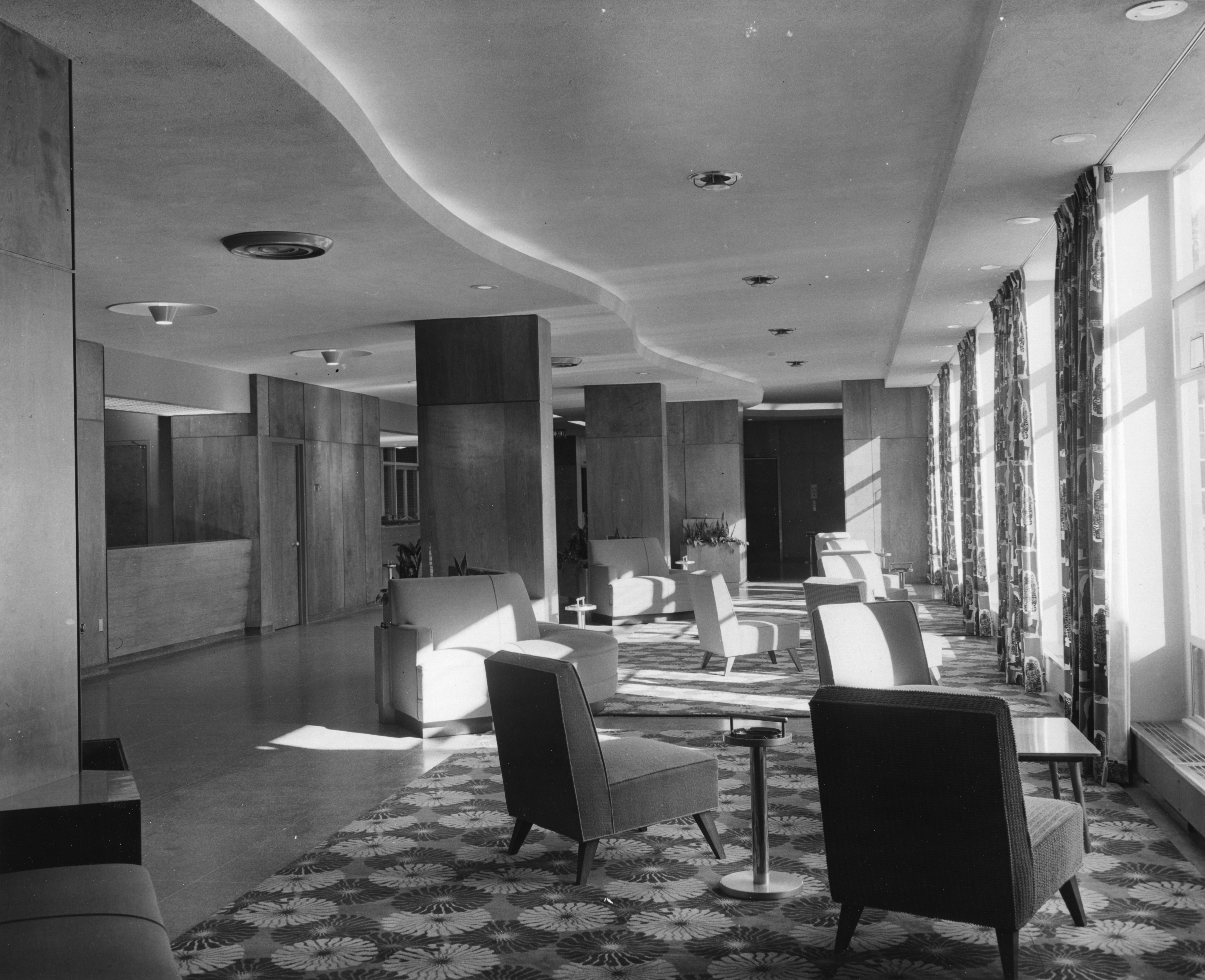 Lobby of the Kellogg Center, 1953