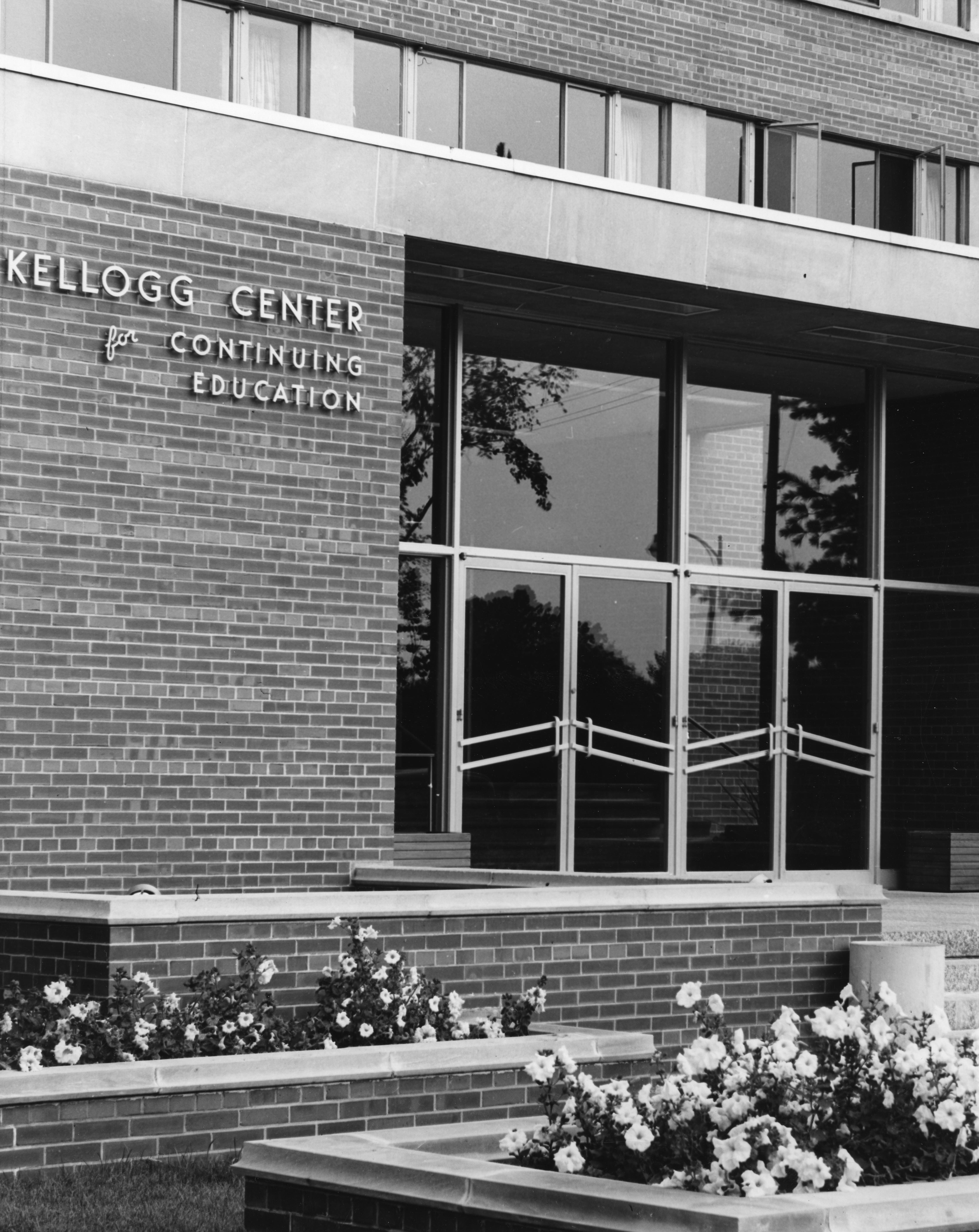 Exterior of Kellogg Center, 1952