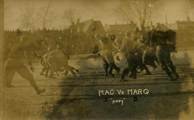 M.A.C. vs. Marquette football game, 1910