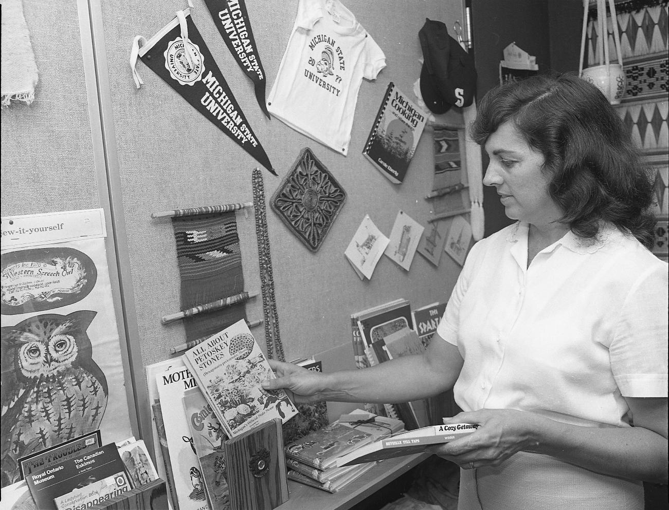 Kellogg Center gift shop, 1978