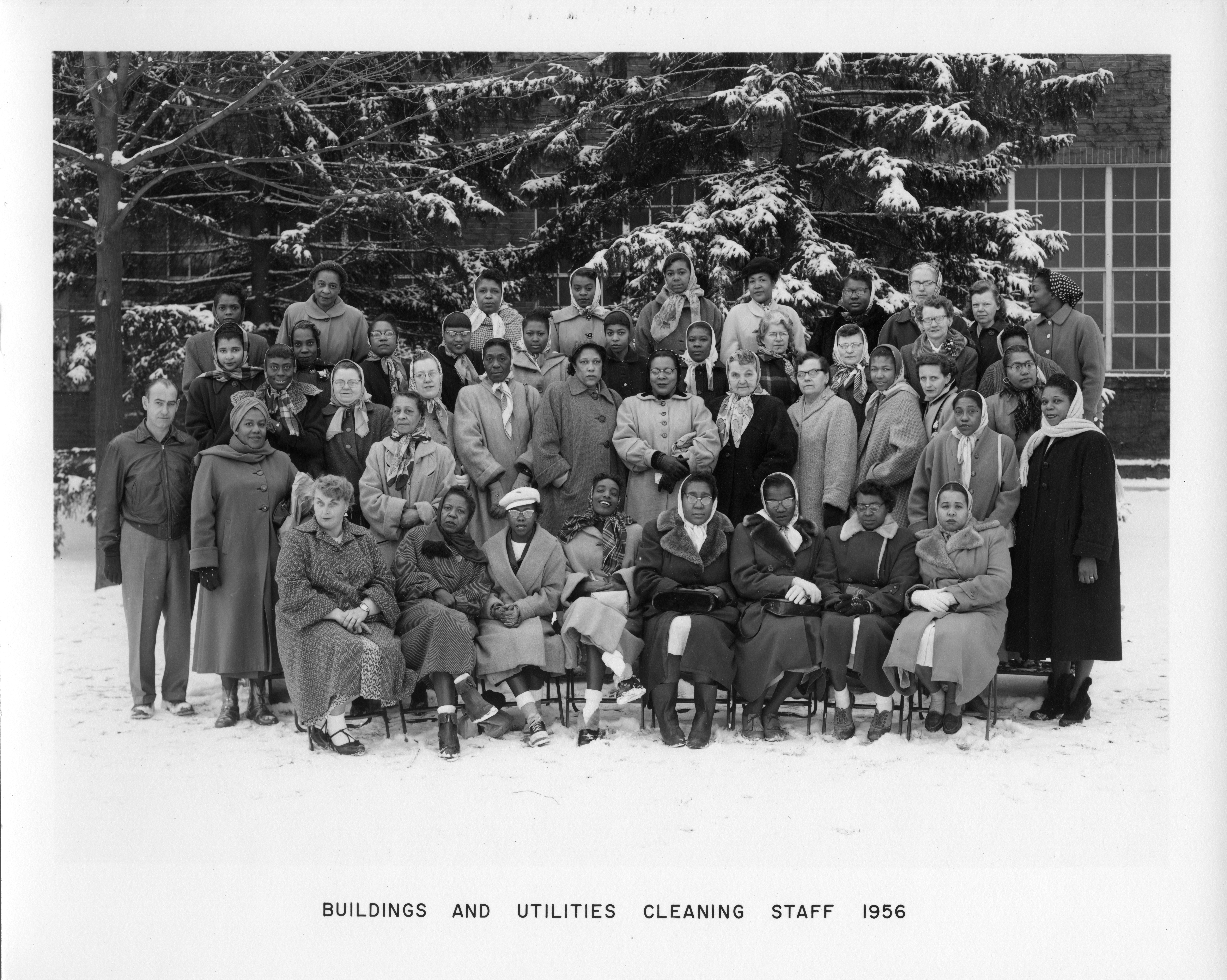 Buildings and Utilities Cleaning Staff, 1956