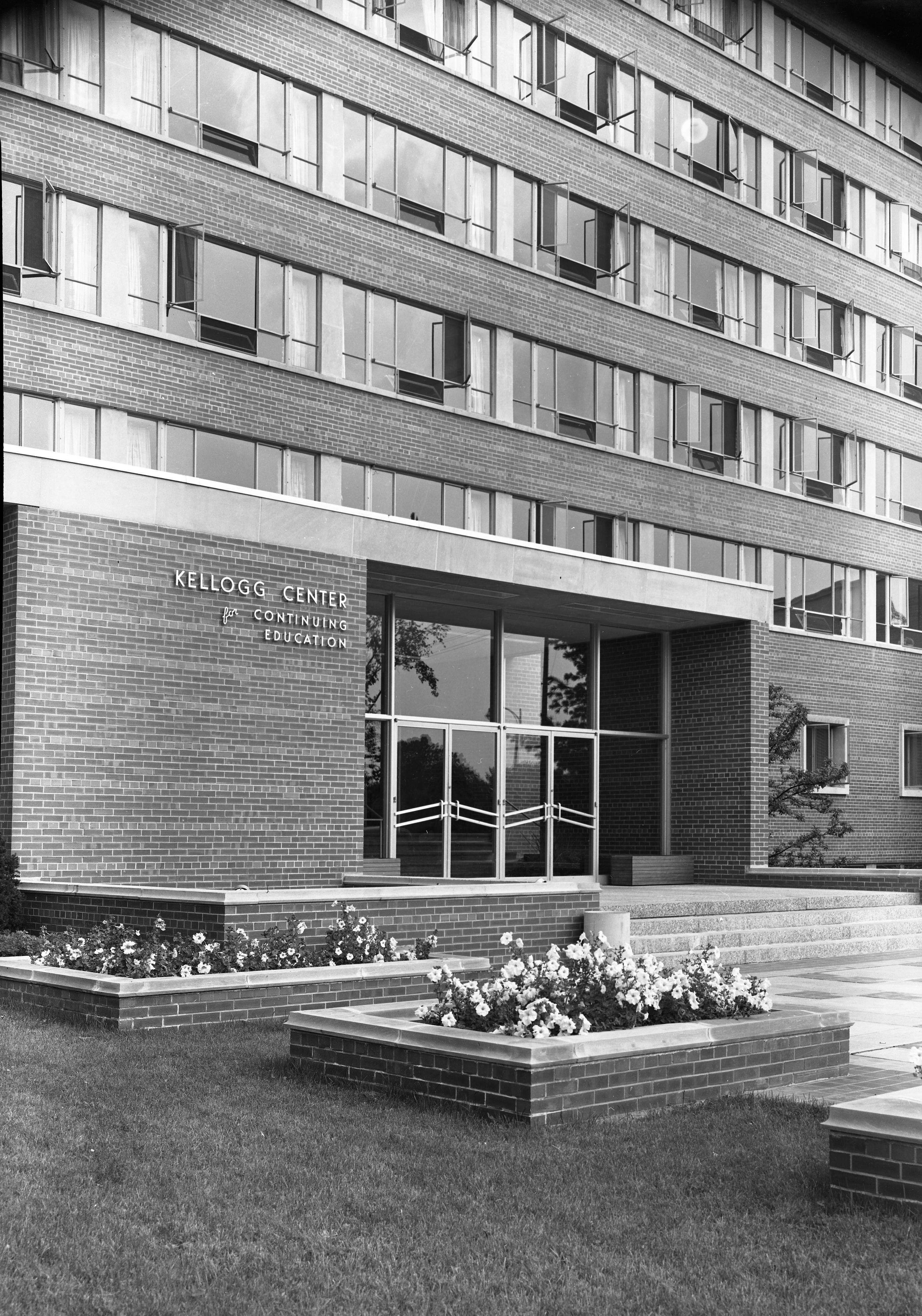 Exterior of the Kellogg Center, 1952