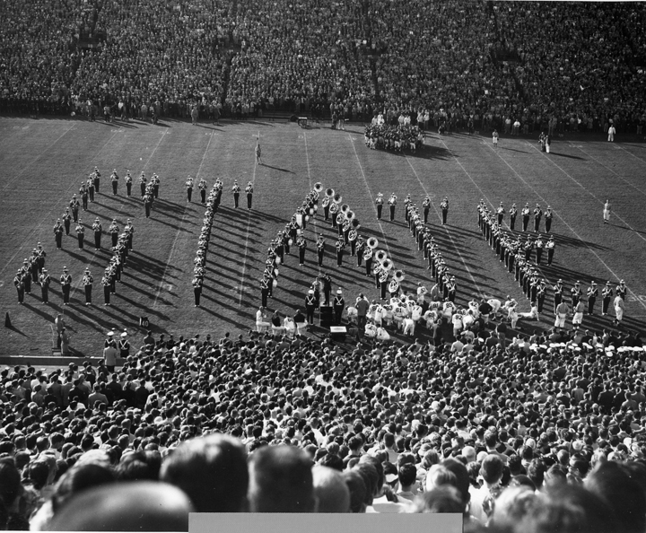 Marching Band at Halftime, 1953