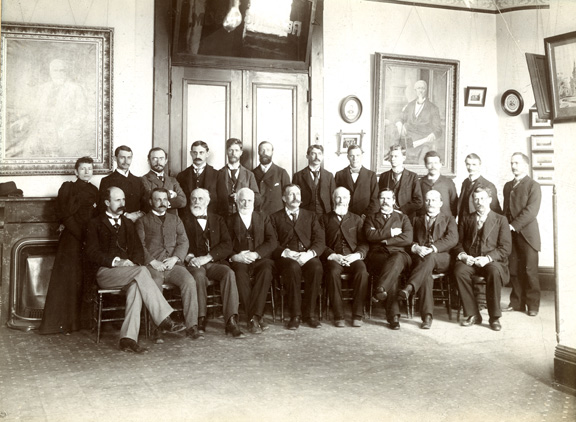 The faculty of Michigan Agricultural College in 1894