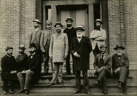 The faculty of the Michigan Agricultural College in 1890.