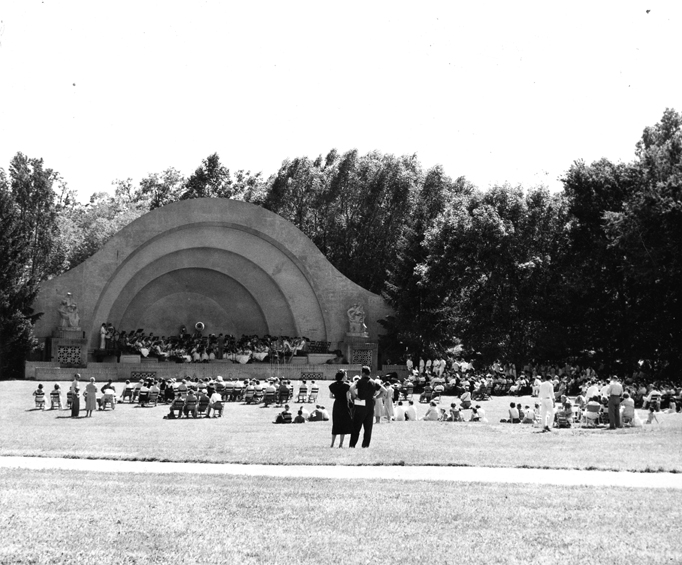 Concert at the Band Shell, 1955