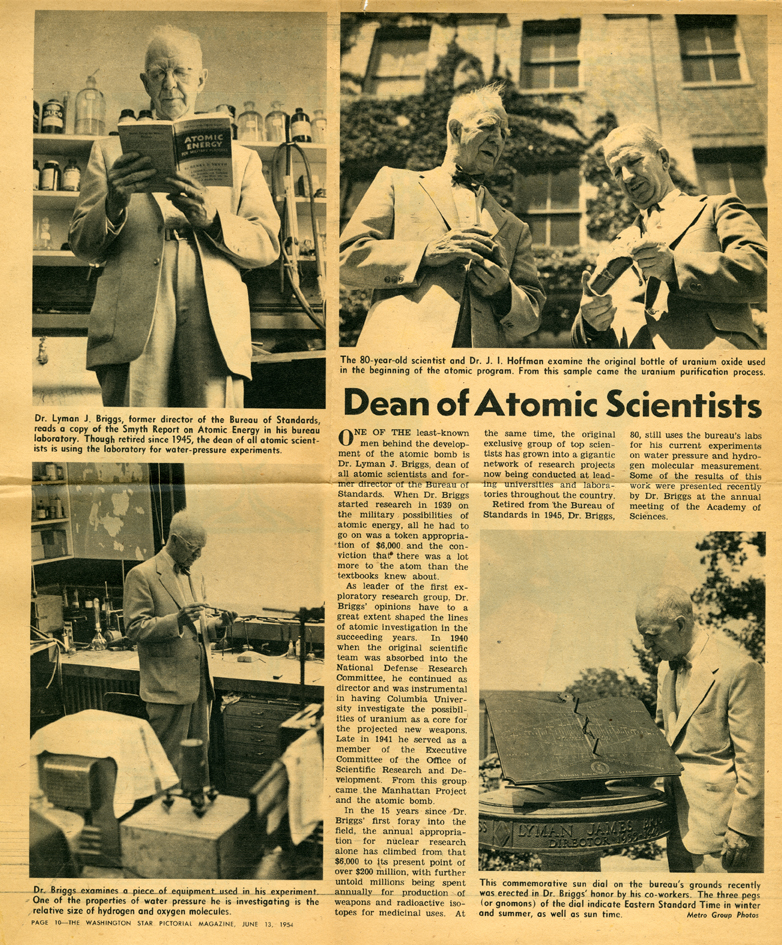 Dean of Atomic Sciences Newspaper Article