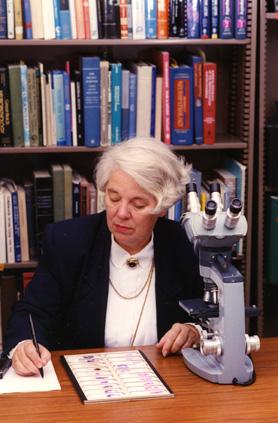 Margaret Zee Jones takes notes, 1994