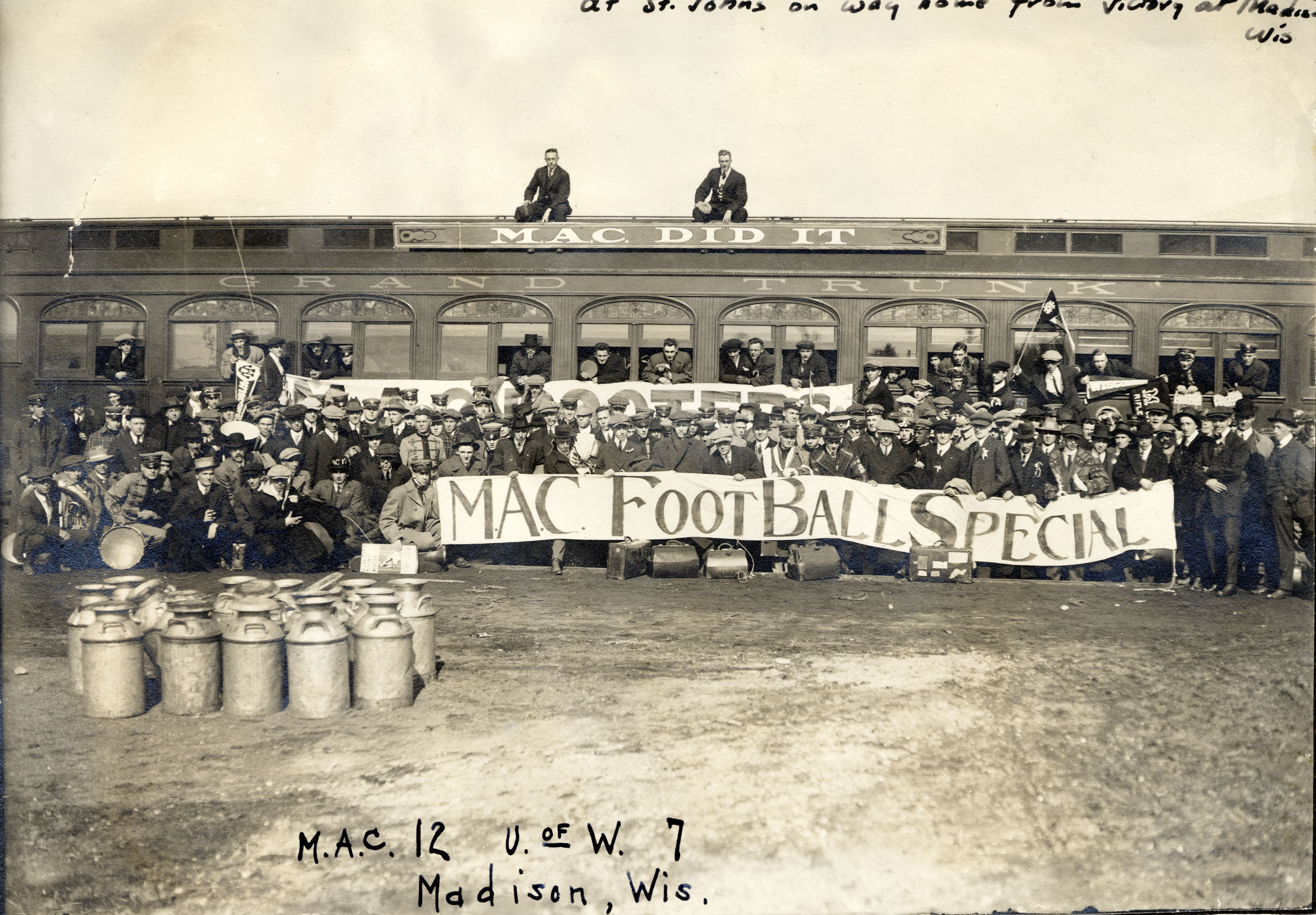 Returning Home After Victory at Madison, Wisconsin, 1913