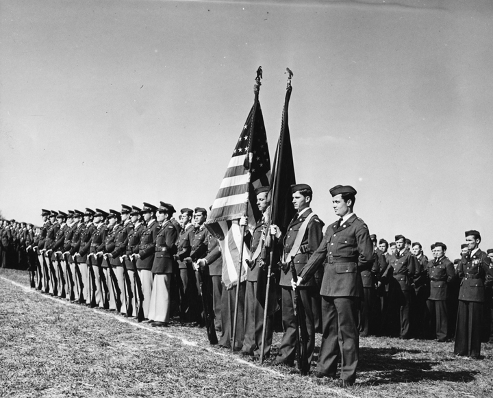 Cadets with Flags, ca 1940s