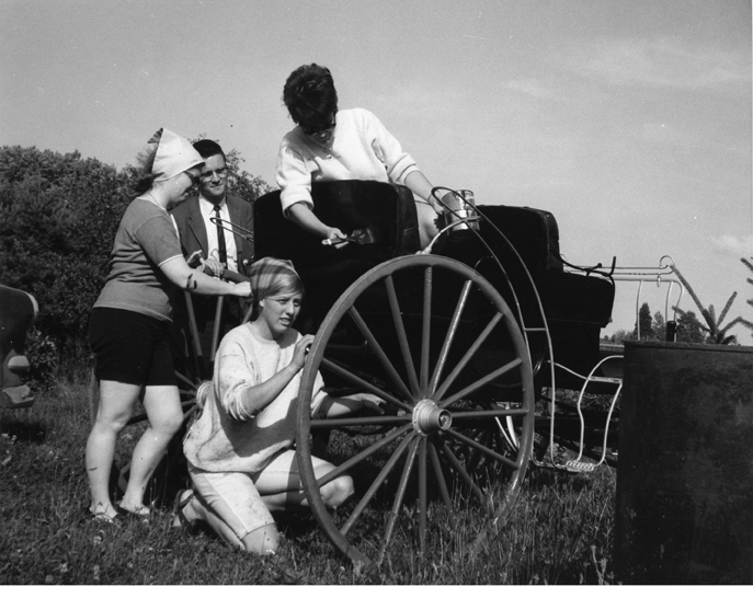 College of Human Medicine students paint carriage, 1967