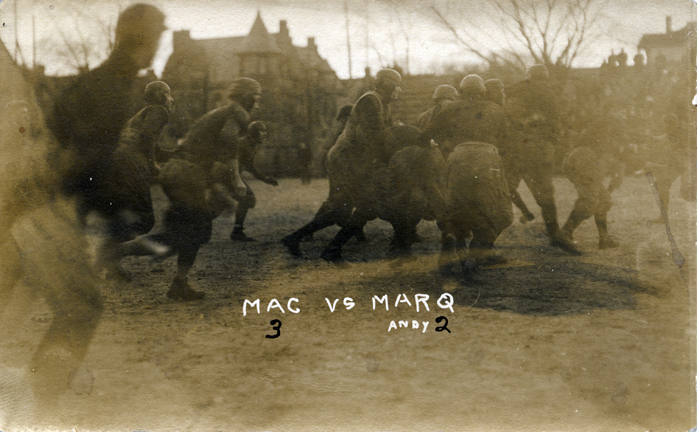 M.A.C. vs Marquette football game, 1910